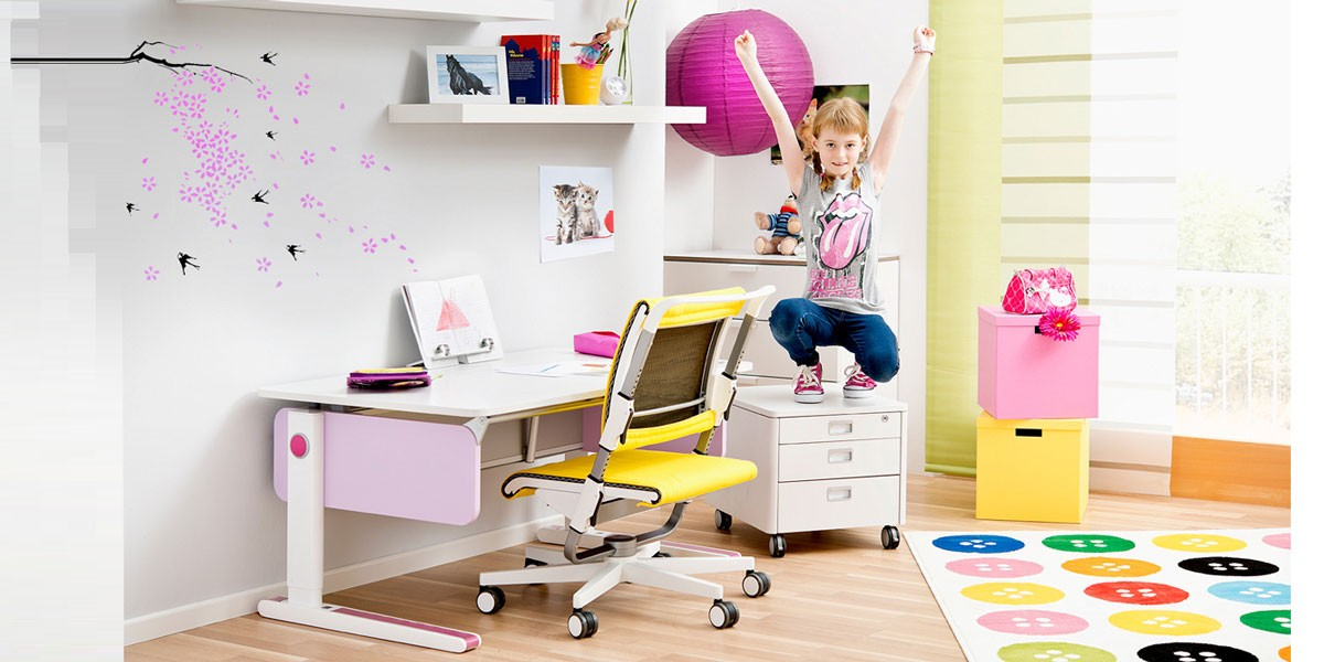 детско ергономично бюро moll Champion с лилави страници