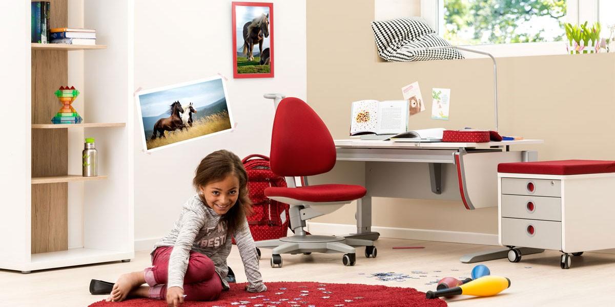 Ергономични столове moll Maximo с червена дамаска