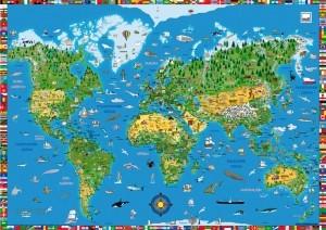 подложка moll Blotting Pad Карта на света