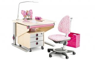 детско бюро за малки стаи розово