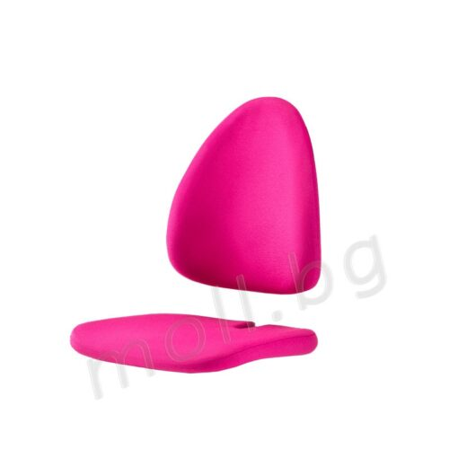 розова дамаскa за детски стол