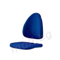синя дамаскa за детски стол