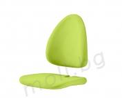 зелена дамаскa за детски стол