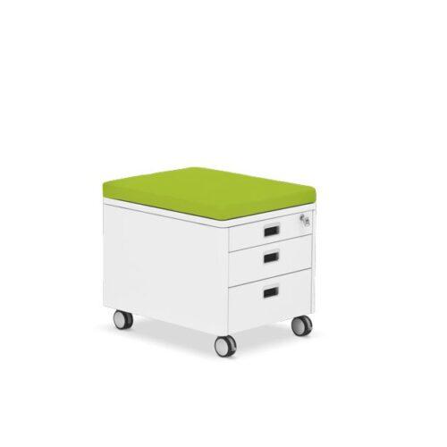 контейнер за детската стая с зелена възглавничка