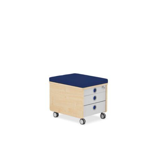 konteiner moll Pro Pad sin 500x500 - контейнер за детска стая moll Pro, явор