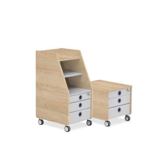 Контейнери за детска стая в цвят дъб