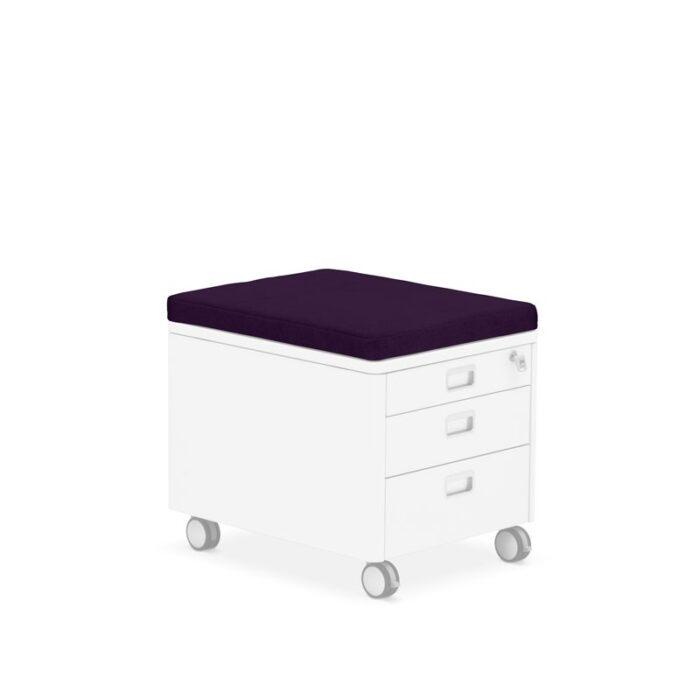 Практичната възглавничка за контейнер Pad в модерен цвят Nightshade