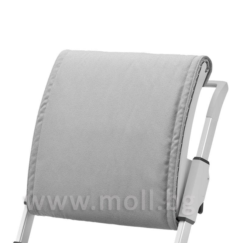 възглавничка за облегалката на стол Scooter сива