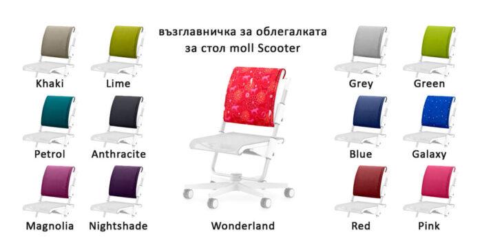 Възглавнички облегалка детски стол