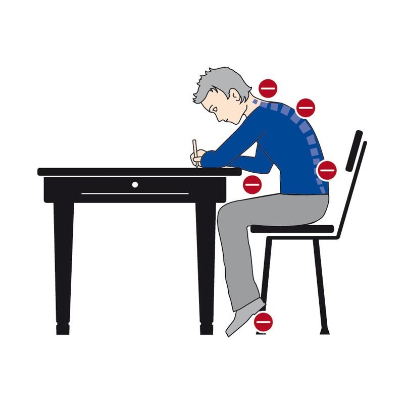 nepravilna stoika masa - Принципи на ергономичното седене