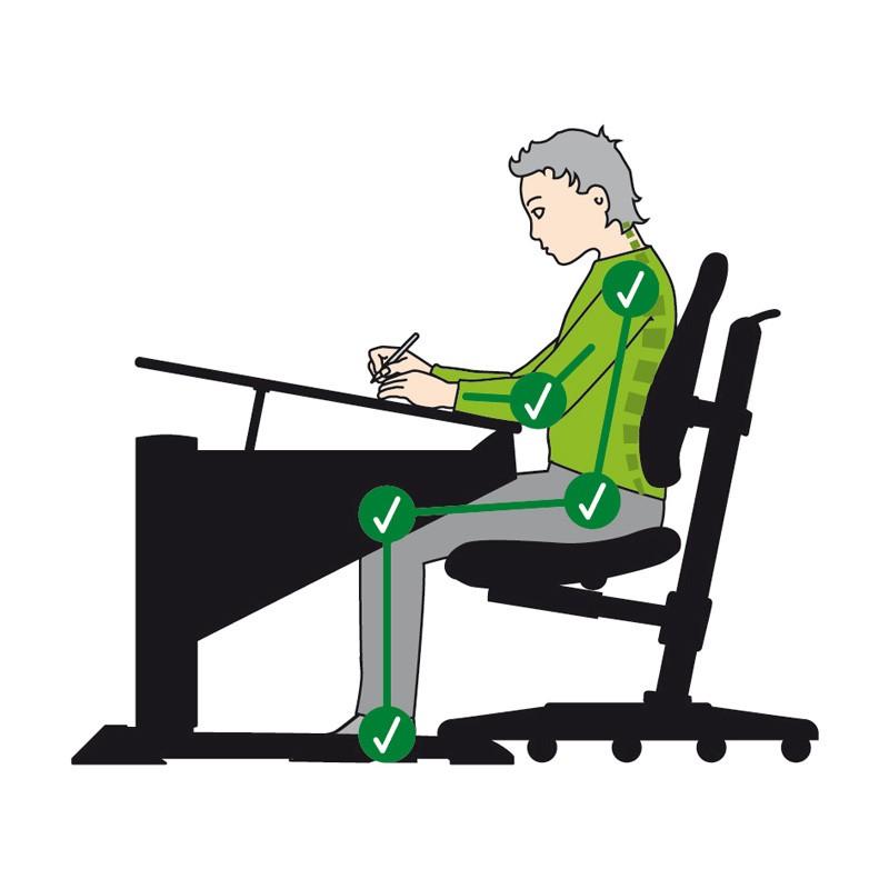 ергономичното седене