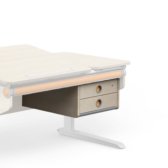 надстройка с 2 чекмеджета в явор за детско бюро