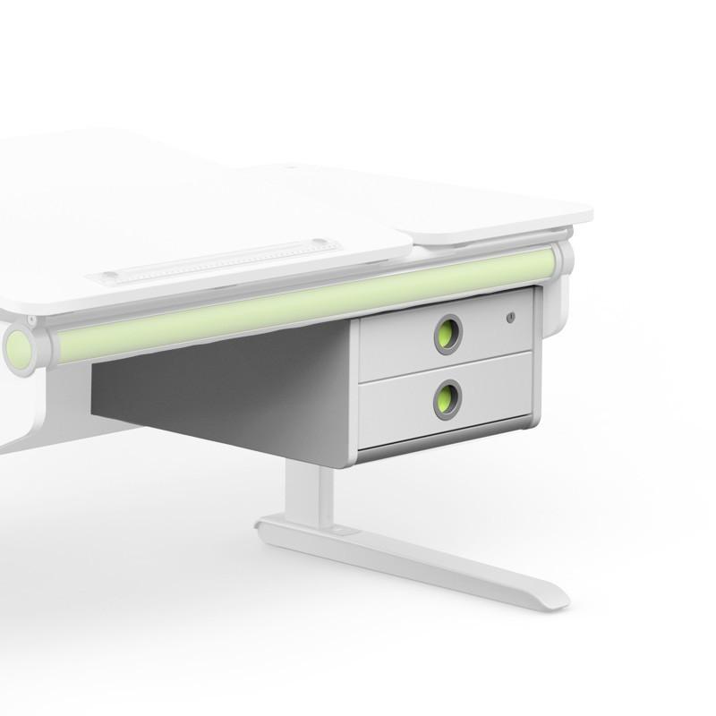 надстройка с 2 чекмеджета в бяло за детско бюро