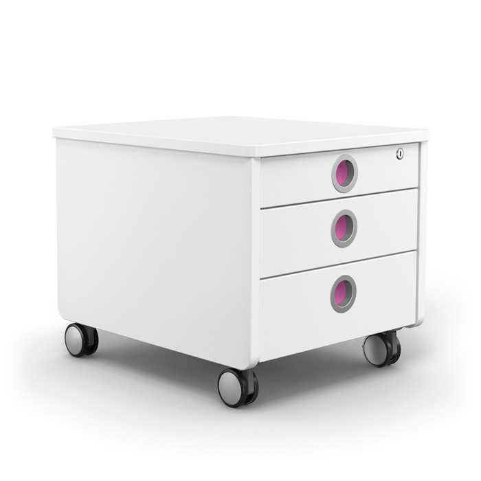 контейнер за детска стая moll Pro, бял