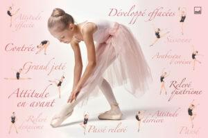 подложка за детско бюро Балерина