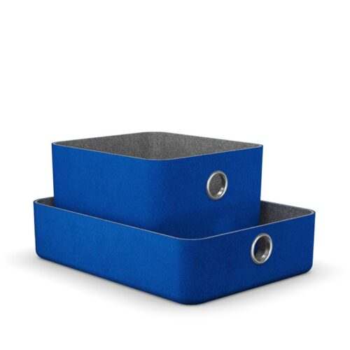 комплект кошници в синьо