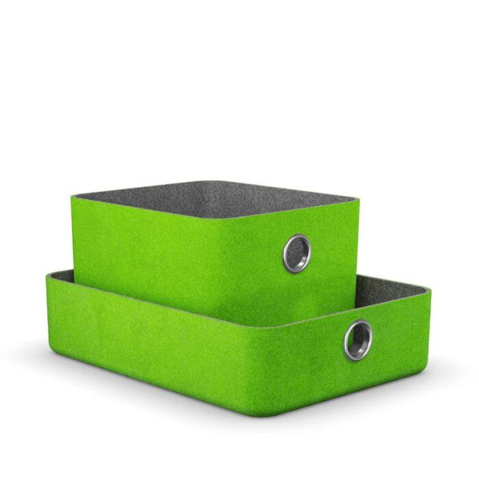 комплект кошници за етажерка в зелено