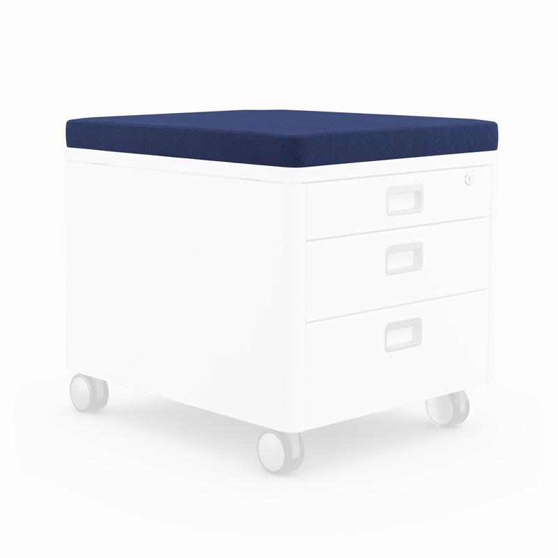 възглавничка за сядане за контейнер за детската стая в синьо
