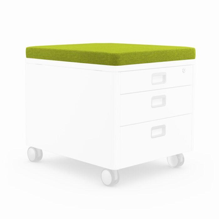 възглавничка за сядане за контейнер за детската стая в зелено