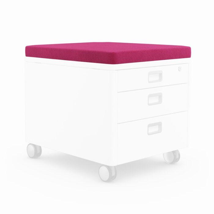 възглавничка за сядане за контейнер за детската стая в розово